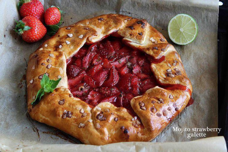 Tarte rustique mojito fraise