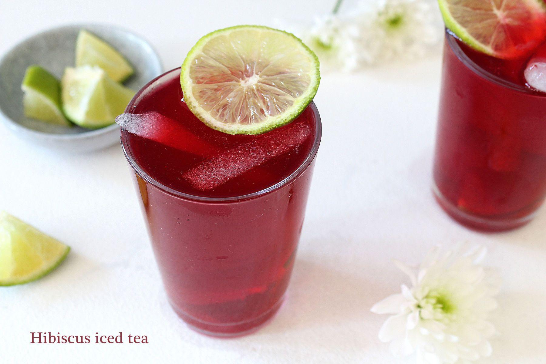 Infusion glacée à l'hibiscus