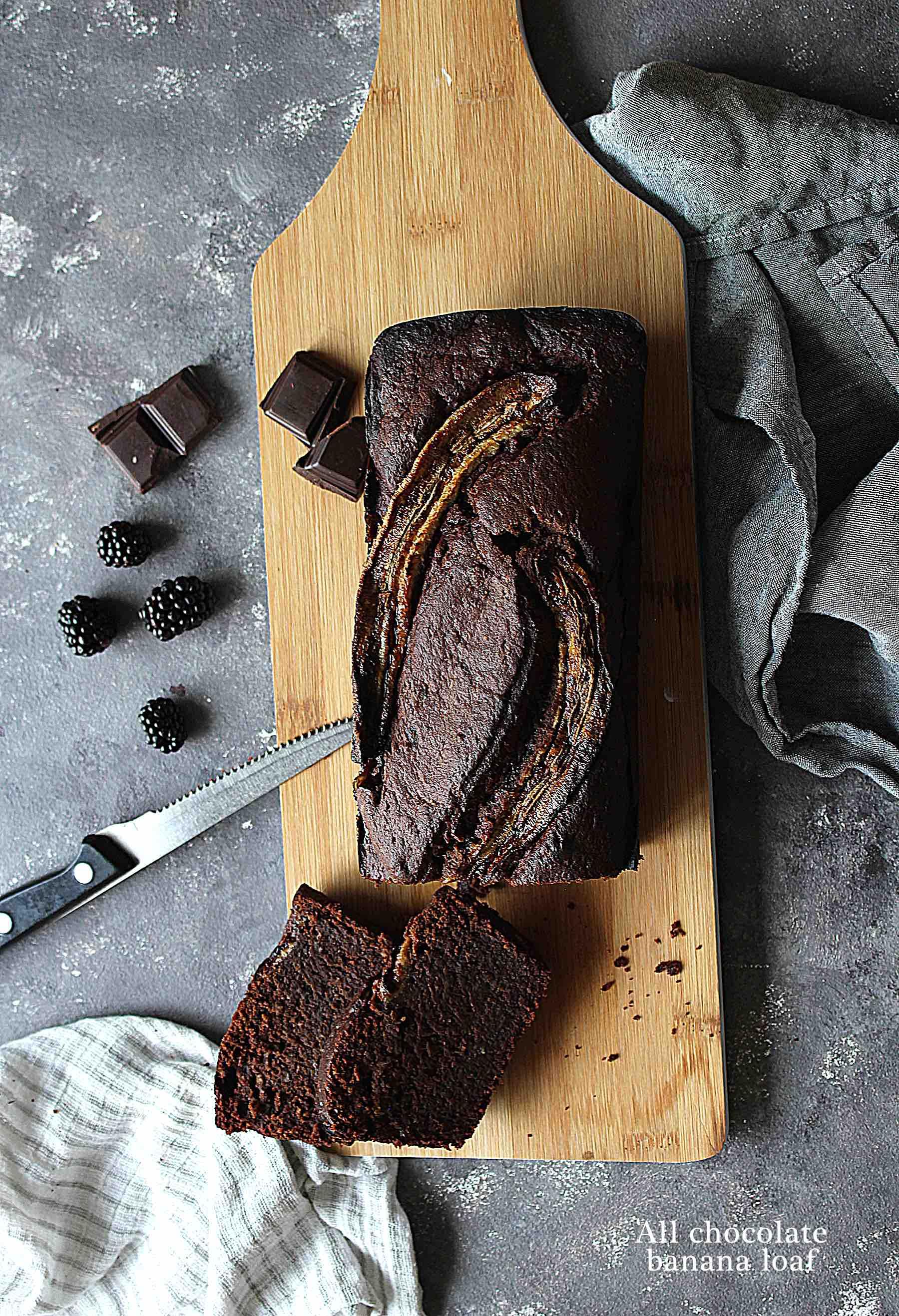 Cake fondant à la banane tout chocolat