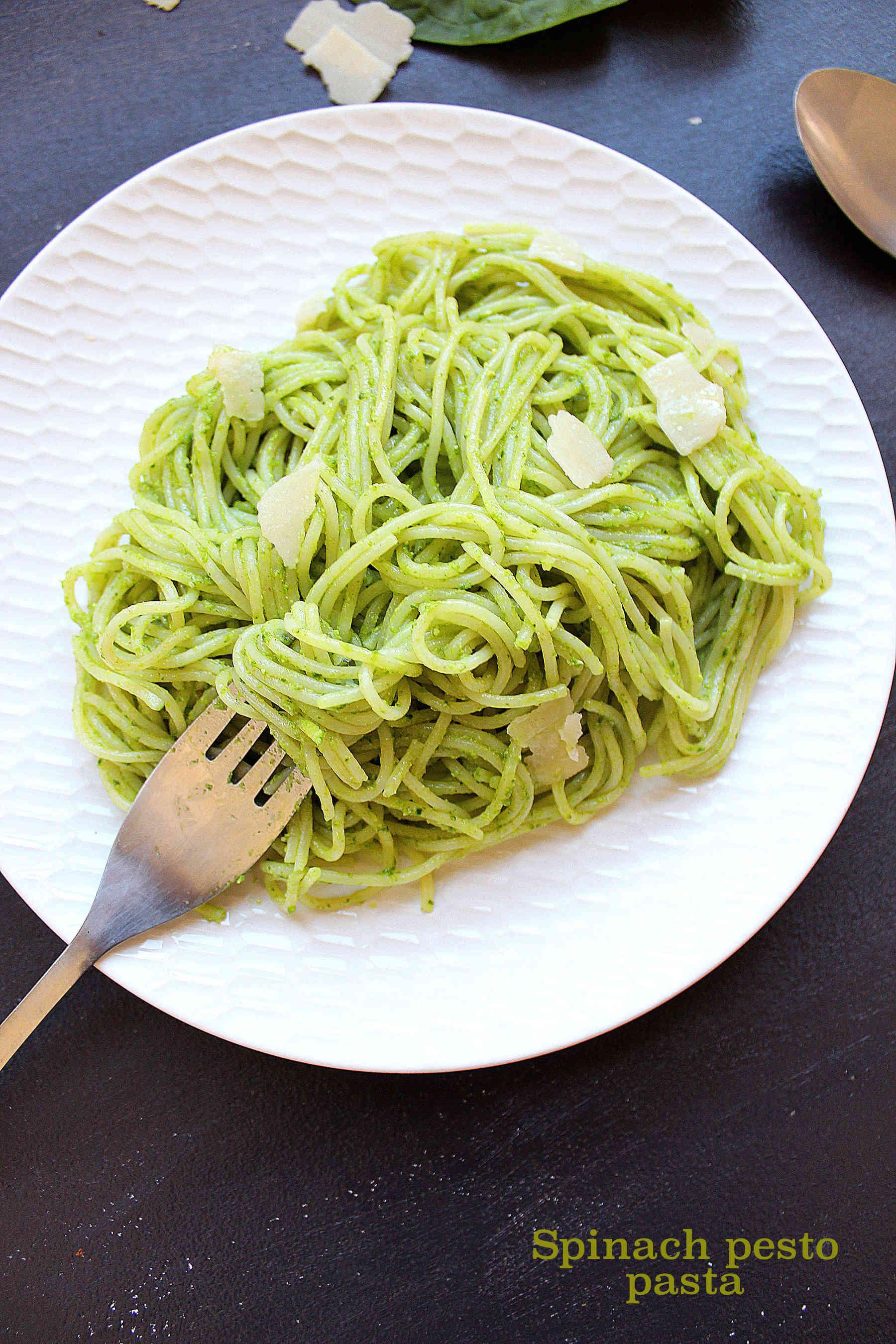 3 minutes spinach pesto pasta
