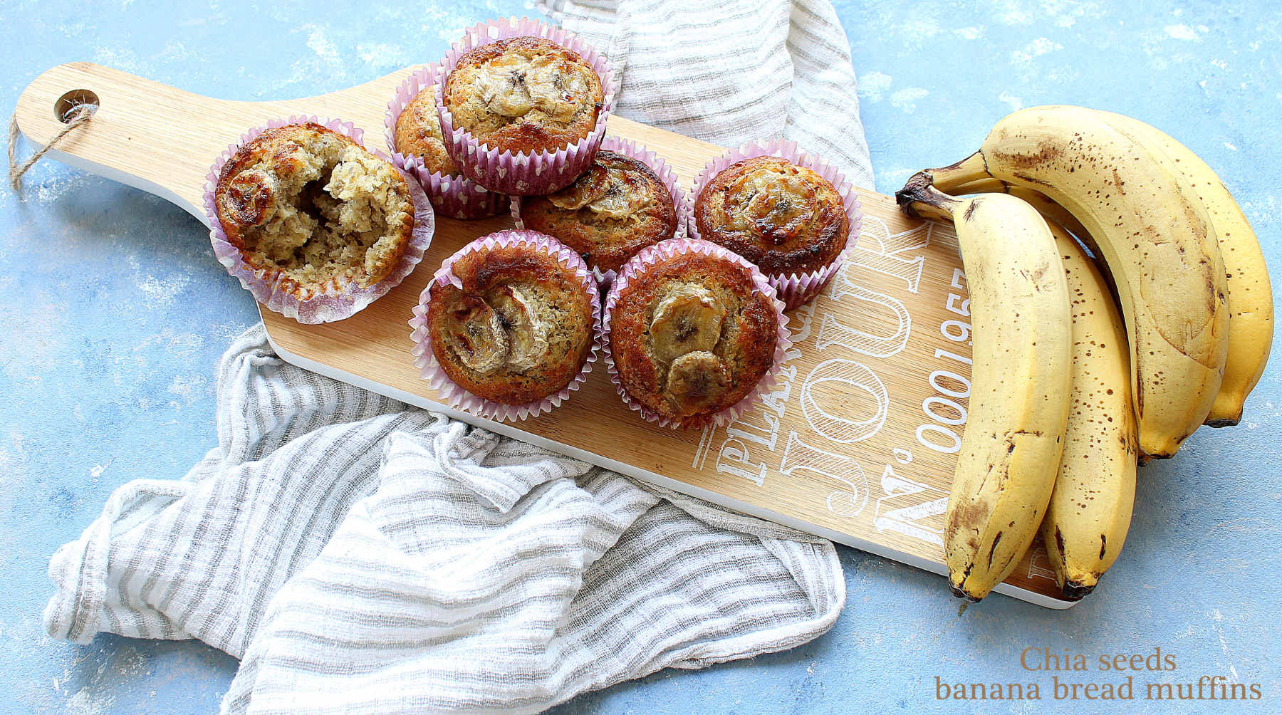 Chia seeds banana bread muffins