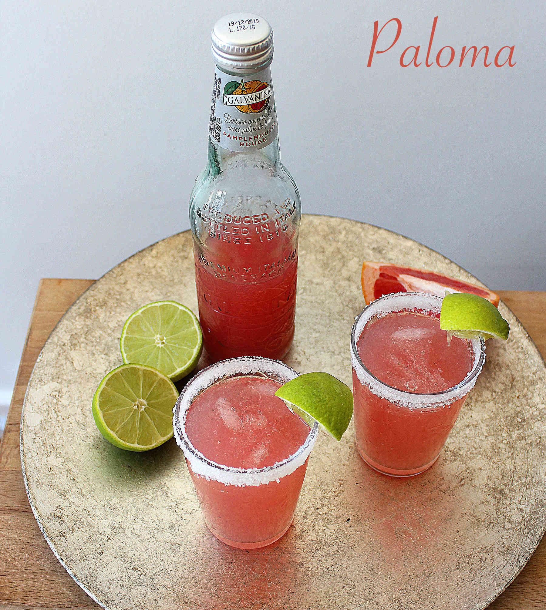Paloma cocktails with Galvanina