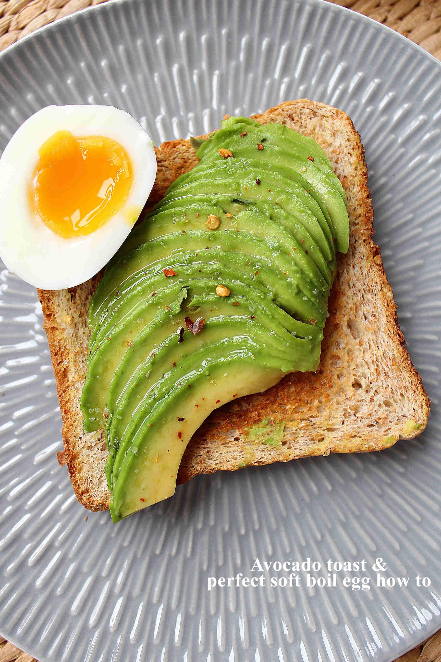 Avocado toast + foolproof soft boiled eggs