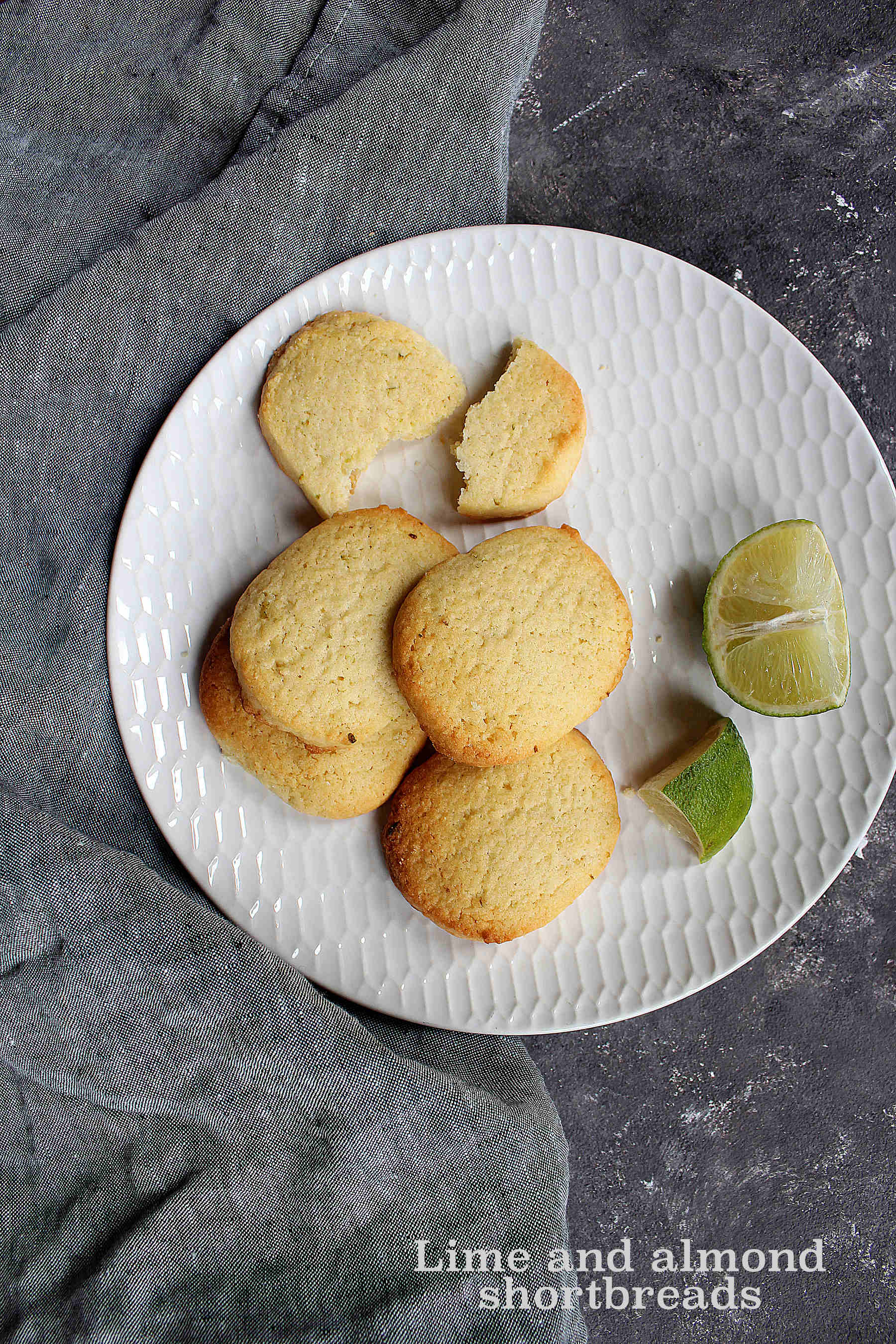 Lime and almond shortbreads