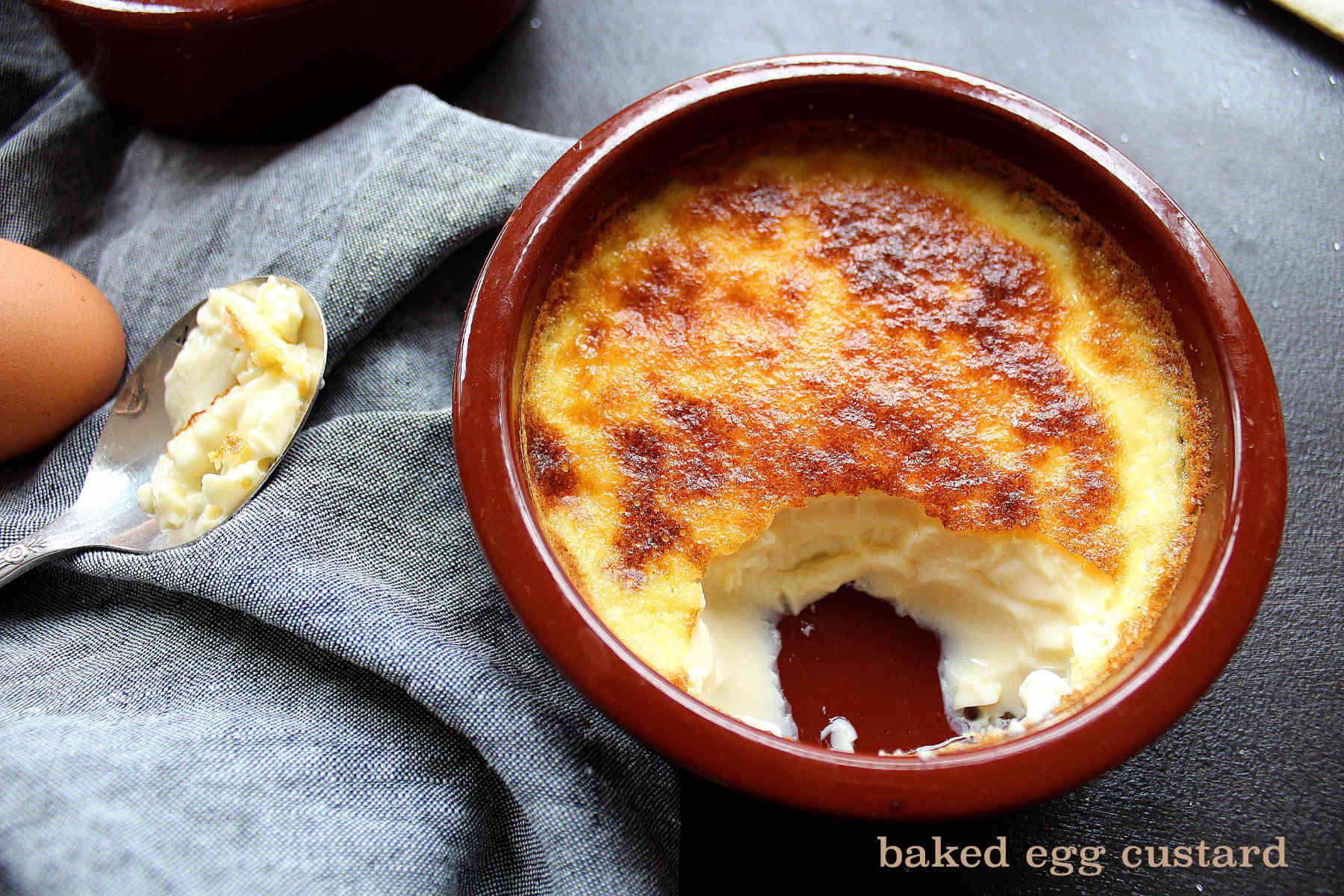 Baked egg custard