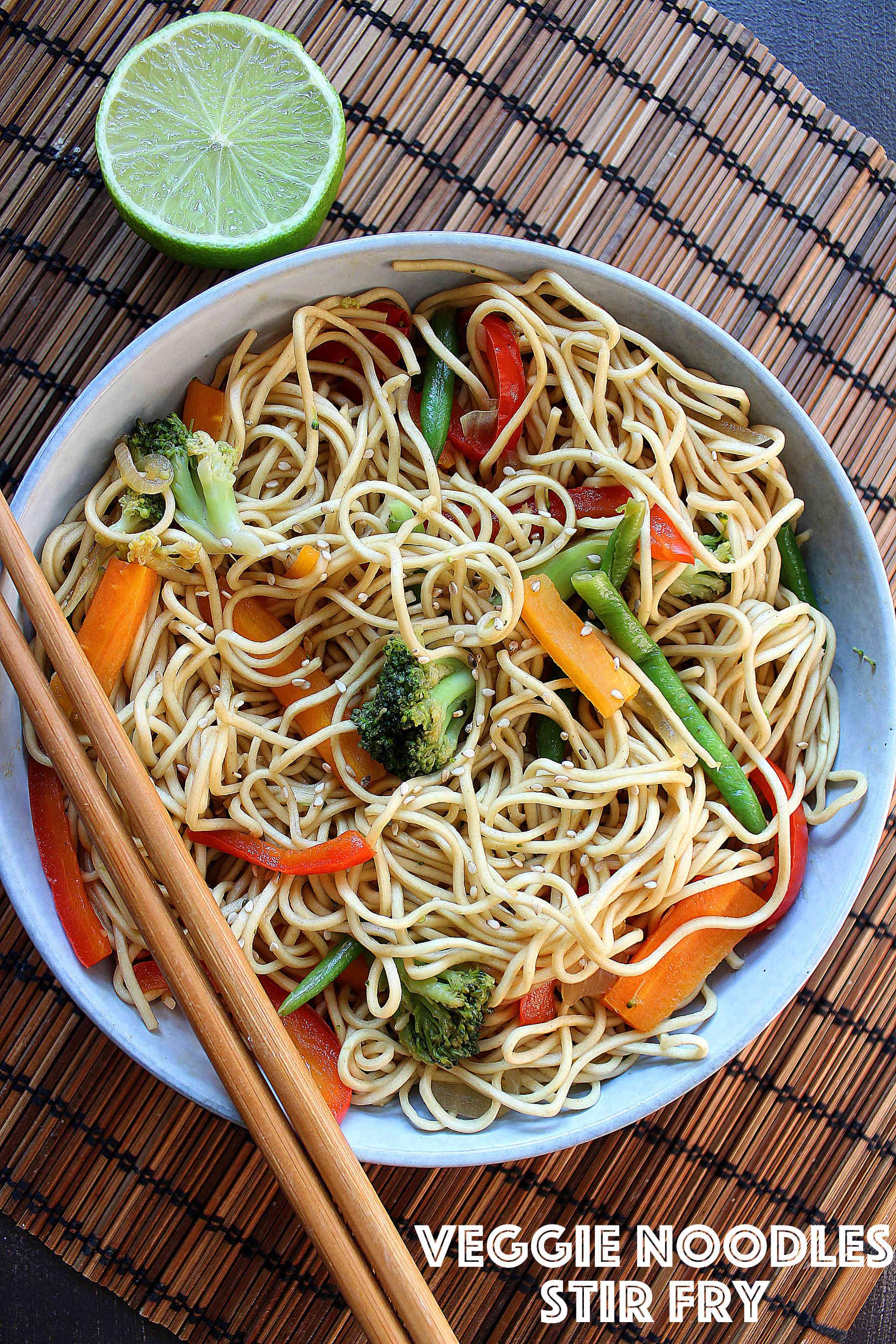 Veggie noodles stir fry
