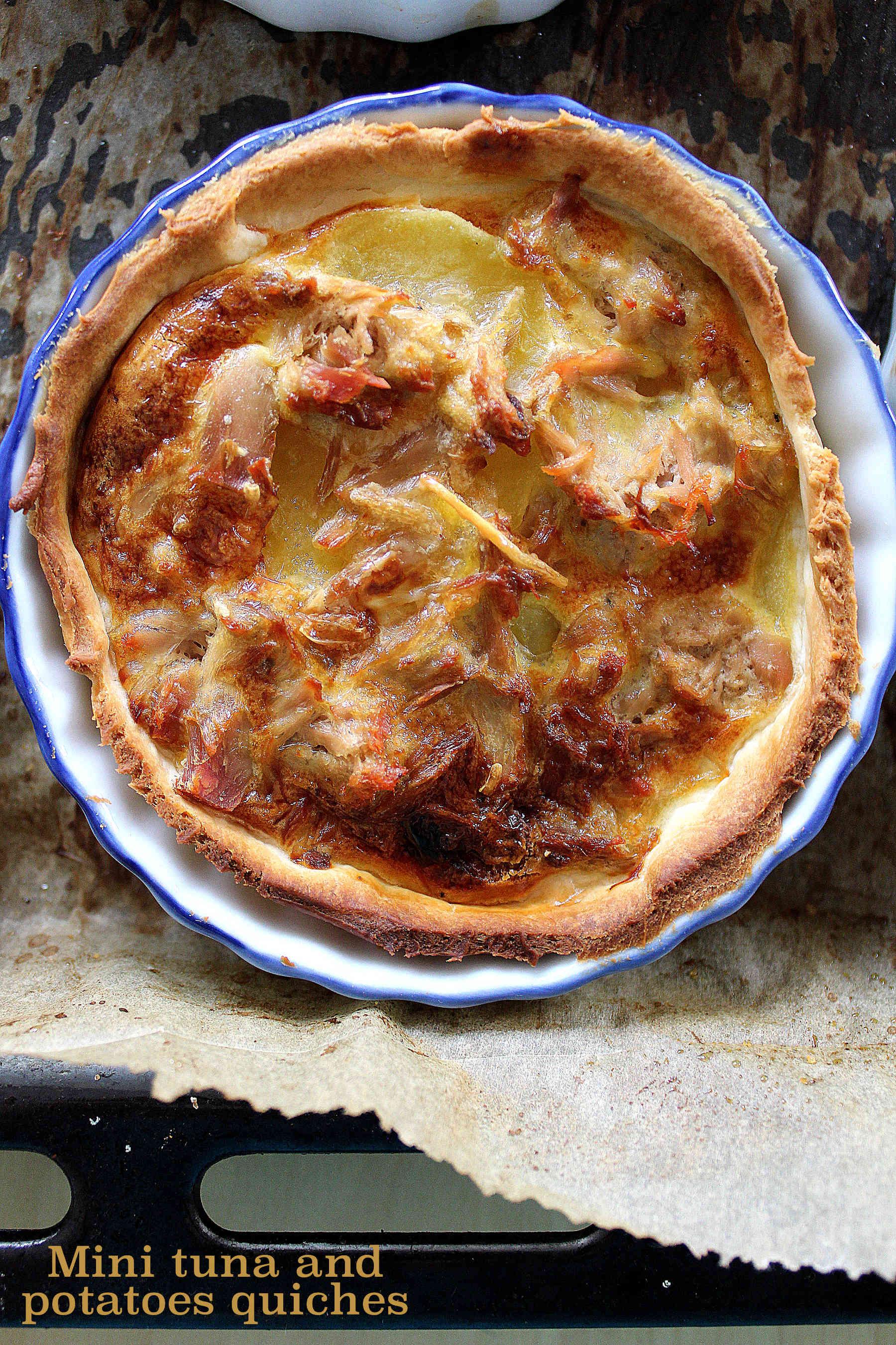 Mini quiches au thon et aux pommes de terre
