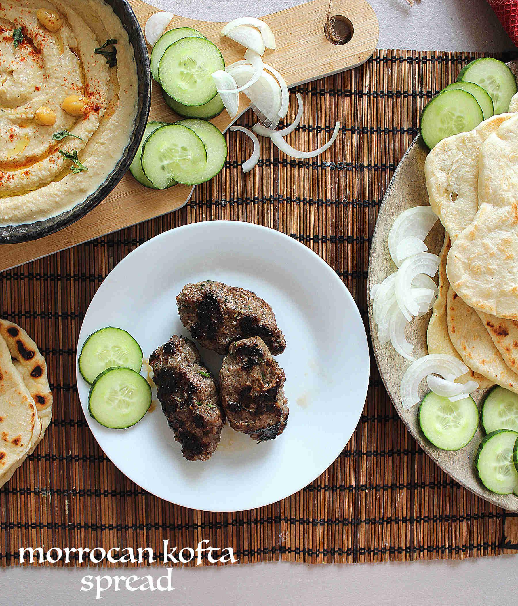 Moroccan koftah spread