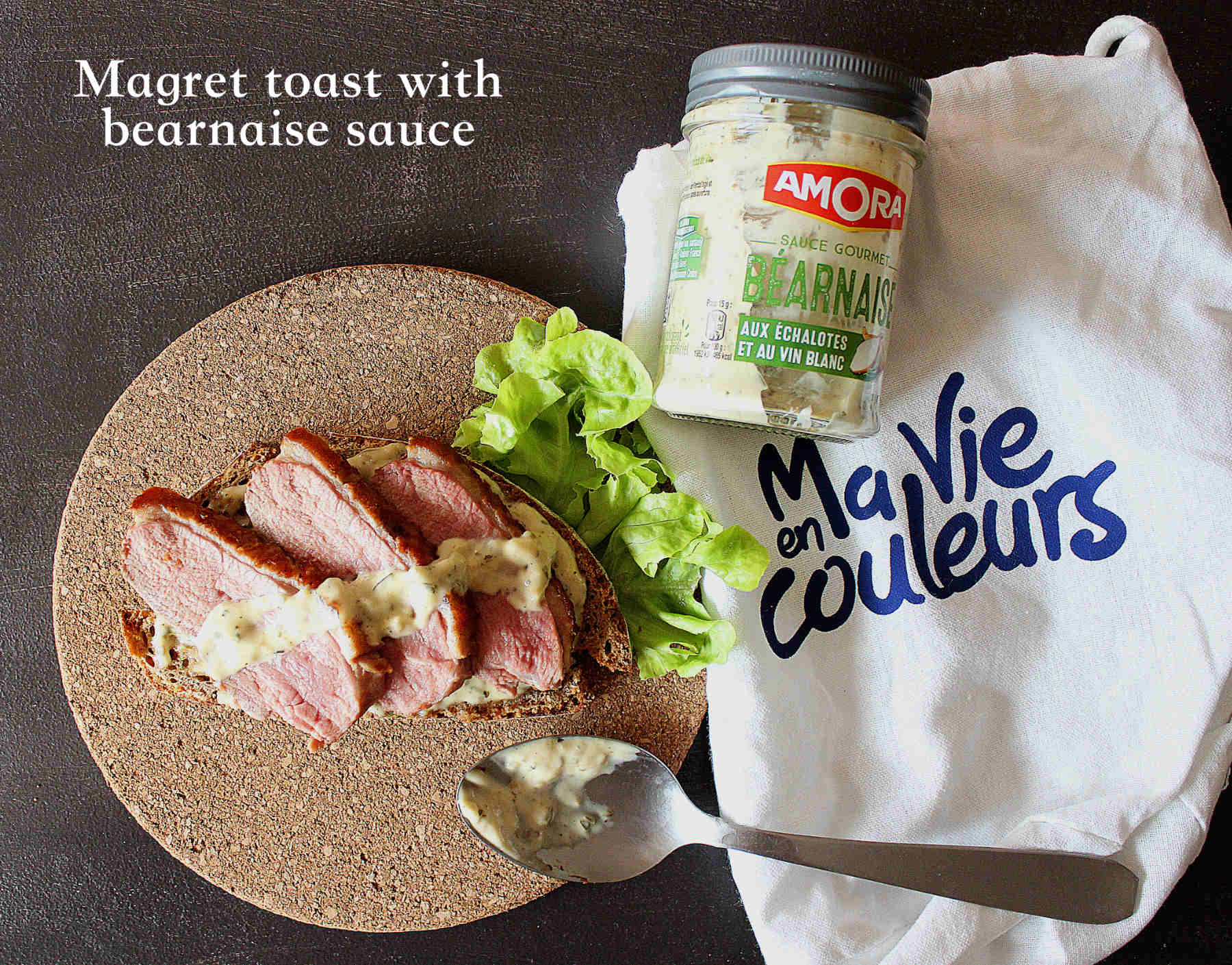 Magret toast with béarnaise sauce with Ma vie en couleurs
