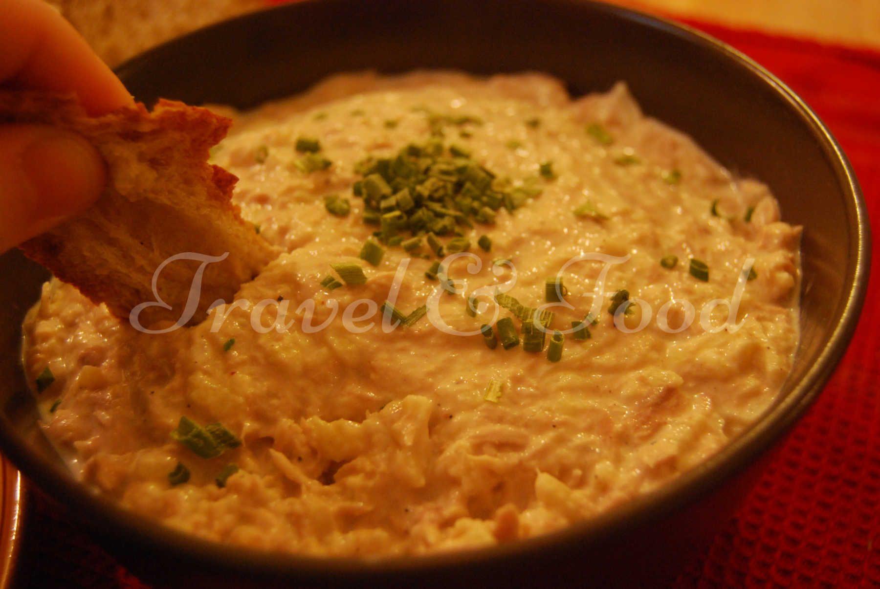 Rillettes de thon à la crème fraîche