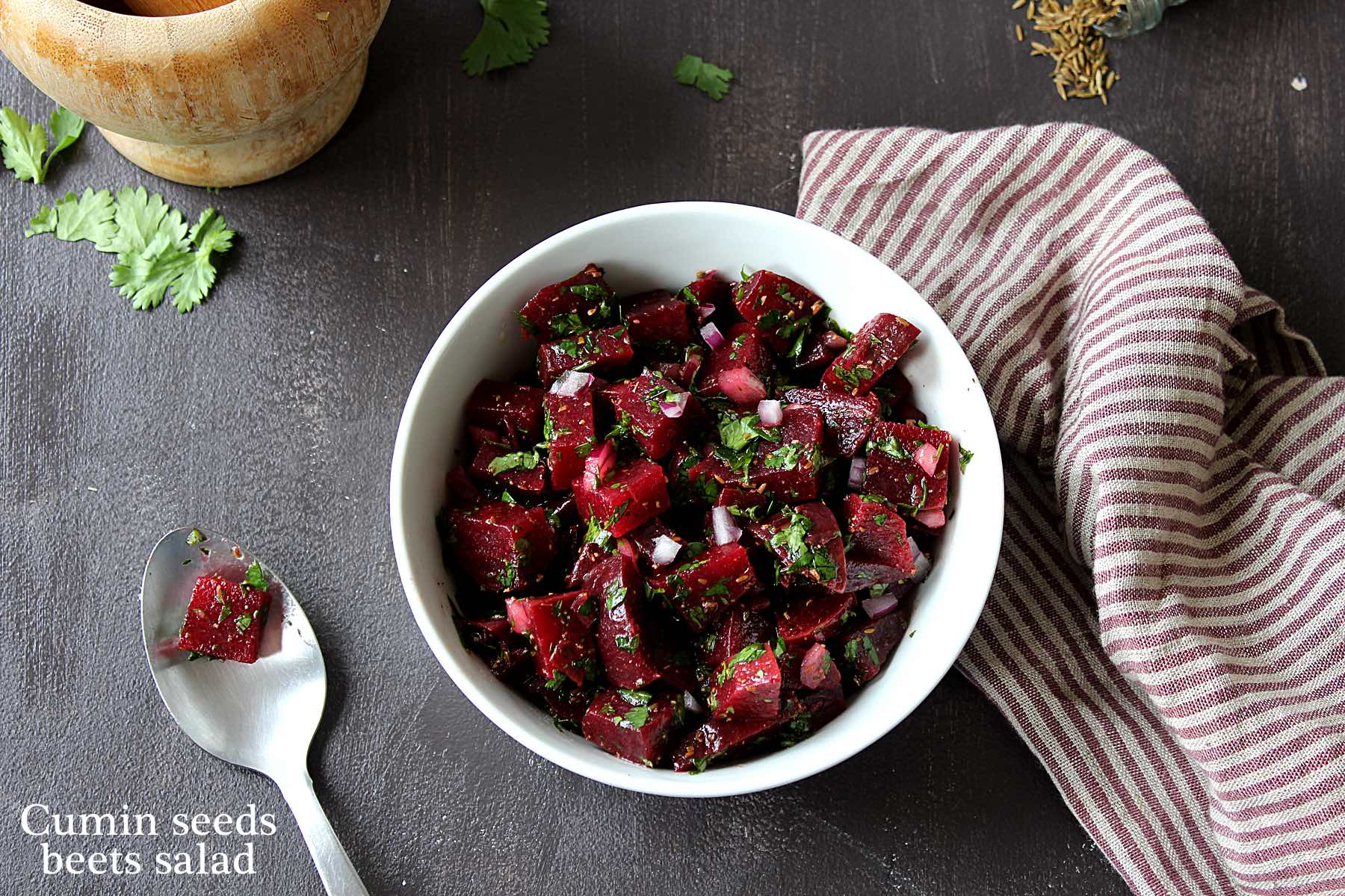 Cumin seeds beets salad