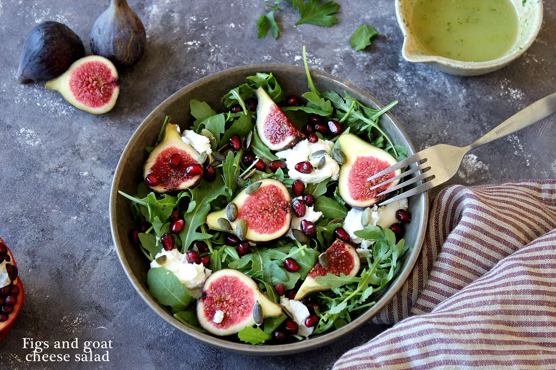 Figs & goat cheese salad