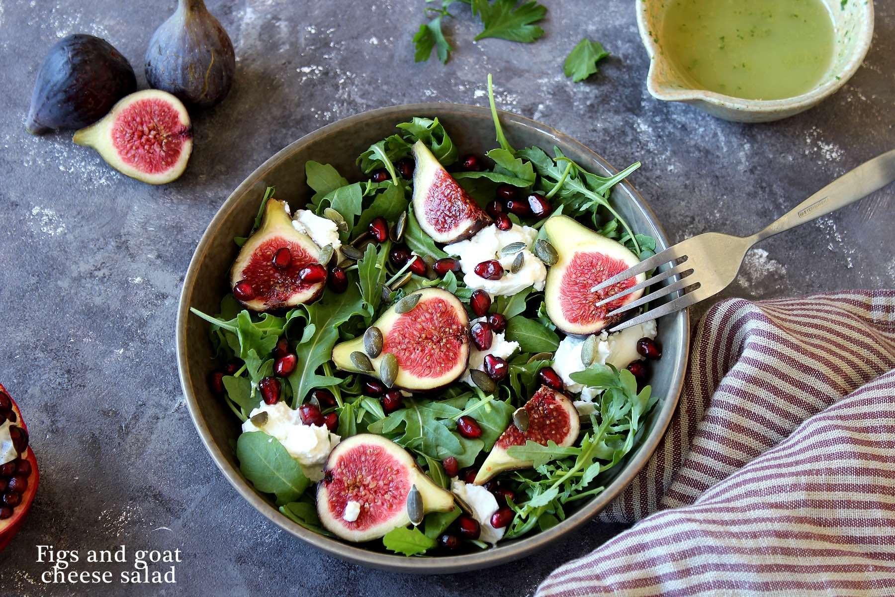 Salade de figue au fromage de chèvre