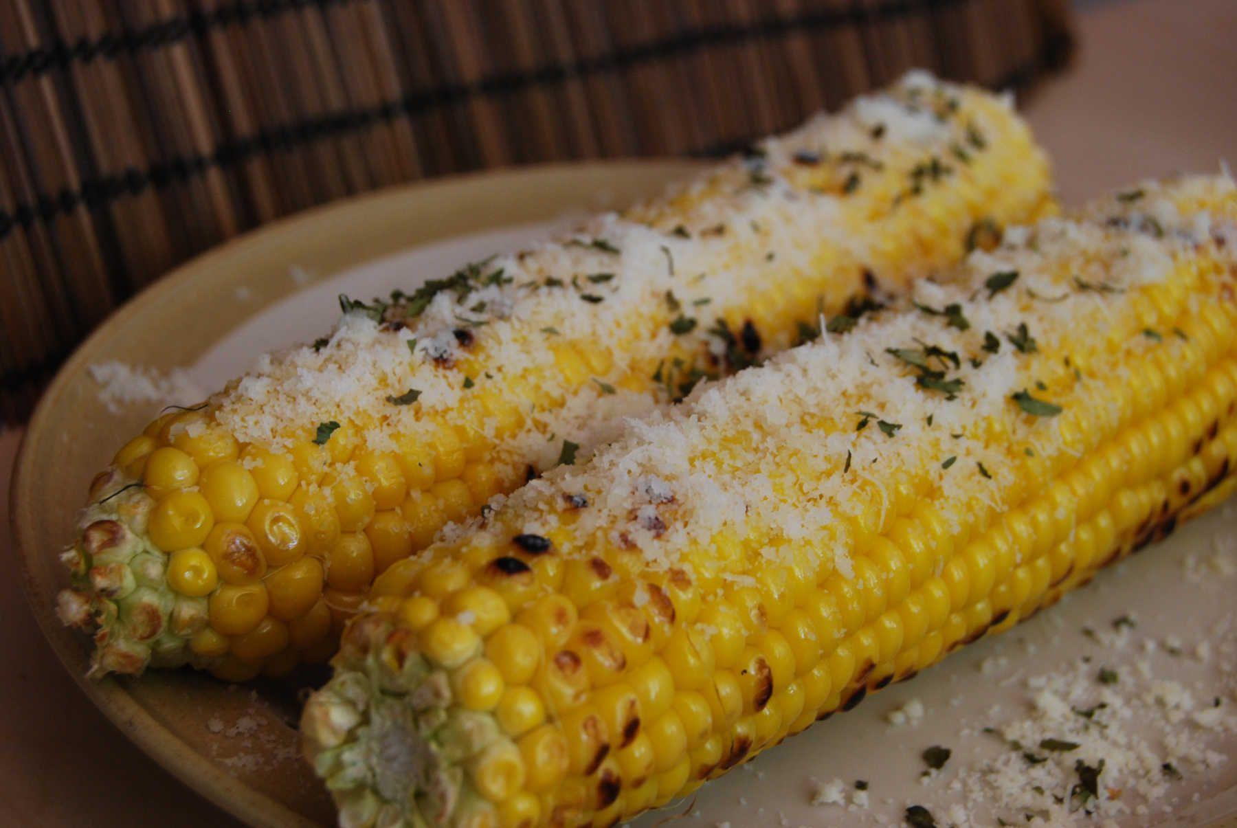 Parmesan corn on the cob