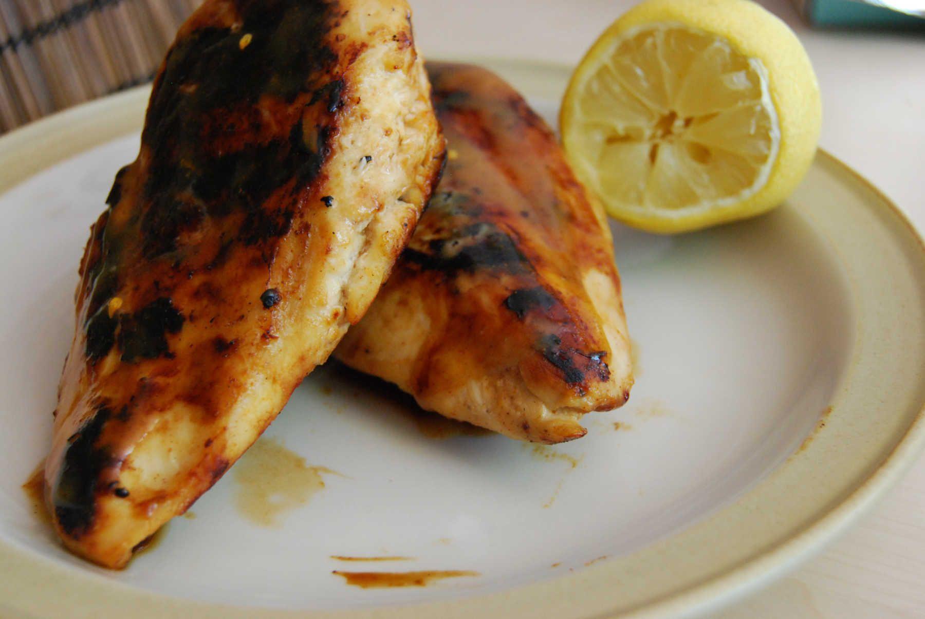 Poulet grillé à la moutarde et au miel