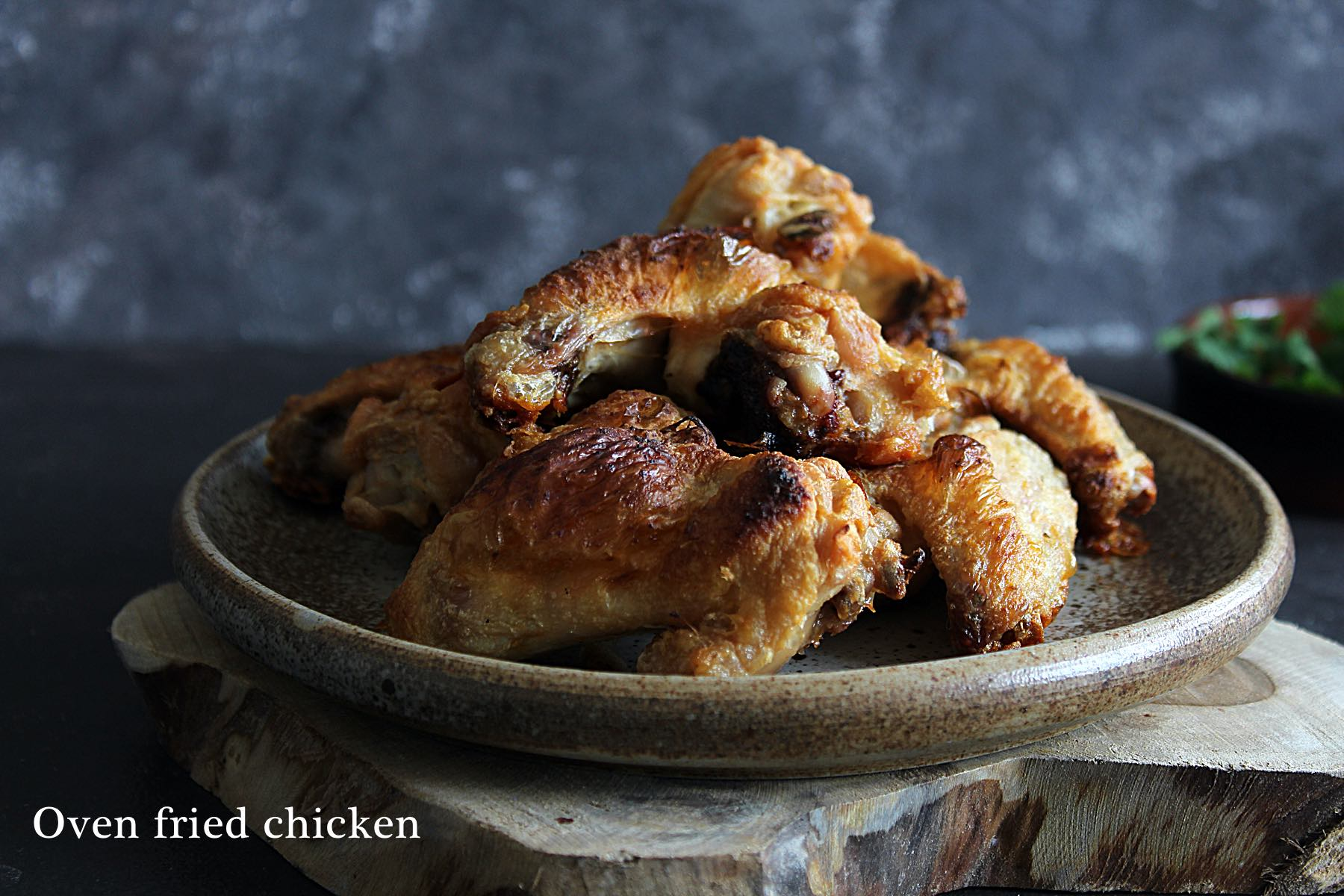 Very crispy baked chicken wings