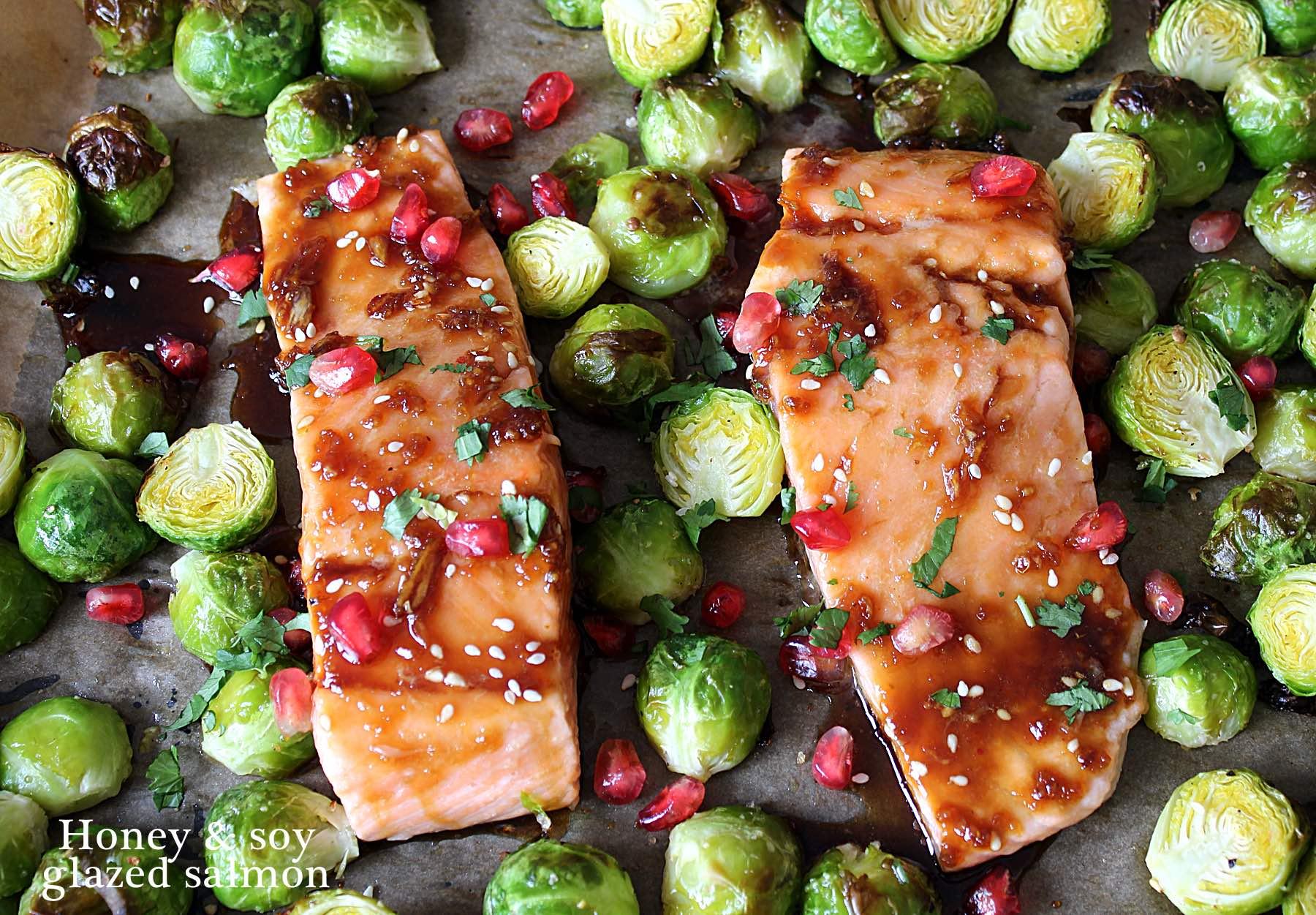 Honey & soy glazed salmon