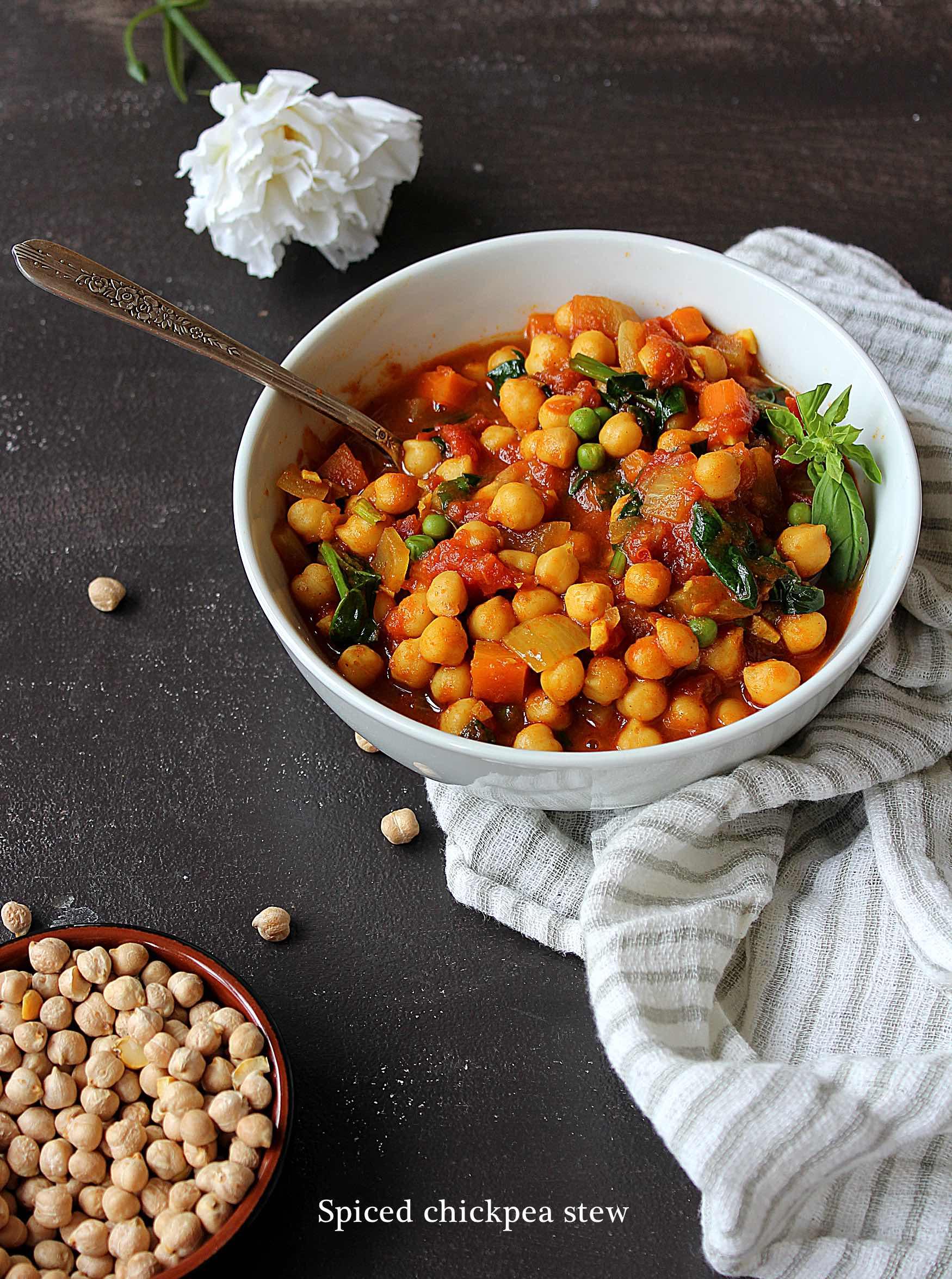 Mijoté de pois chiche et légumes (vegan)