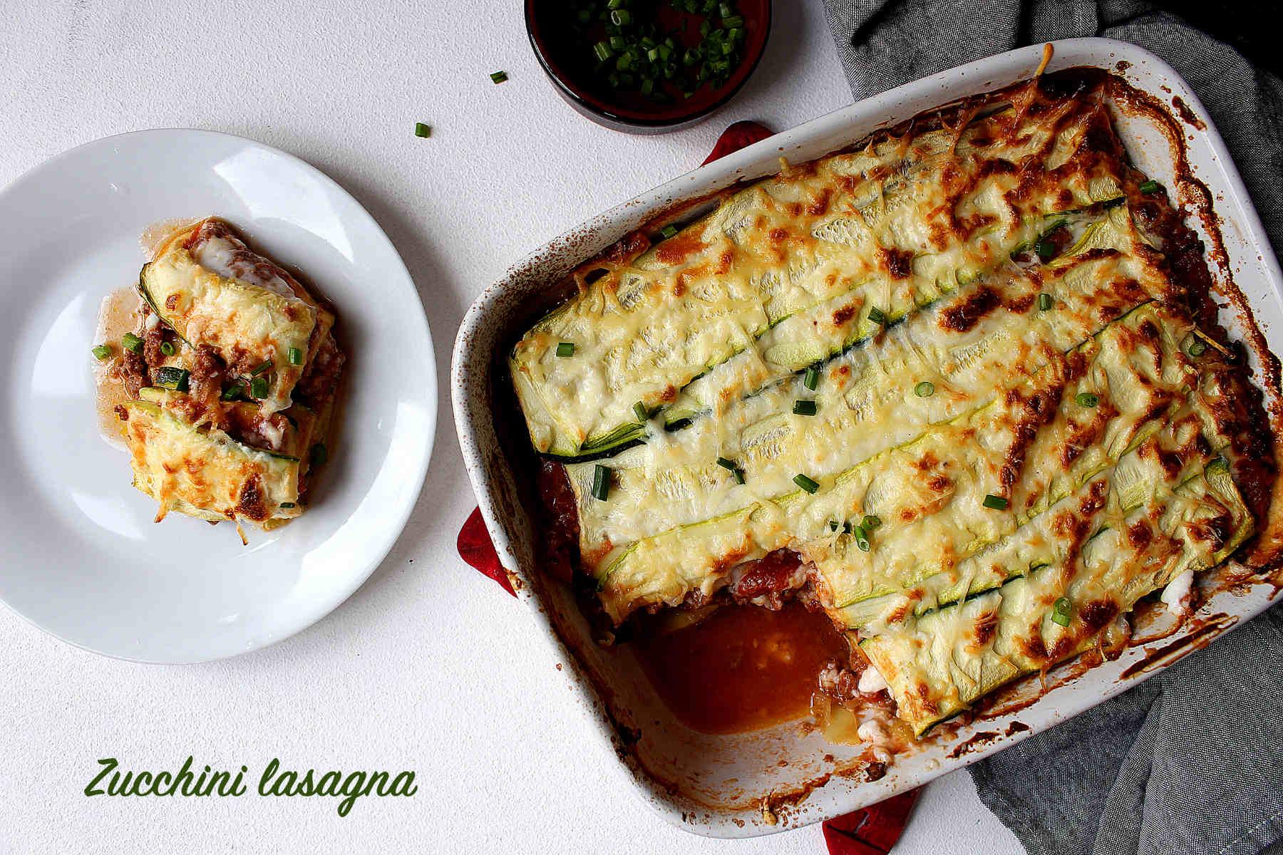 Zucchini lasagna (low carb)