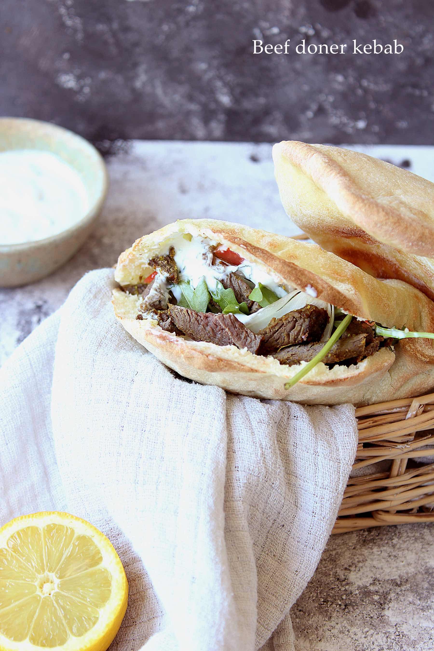 Kebab confiné au boeuf mariné