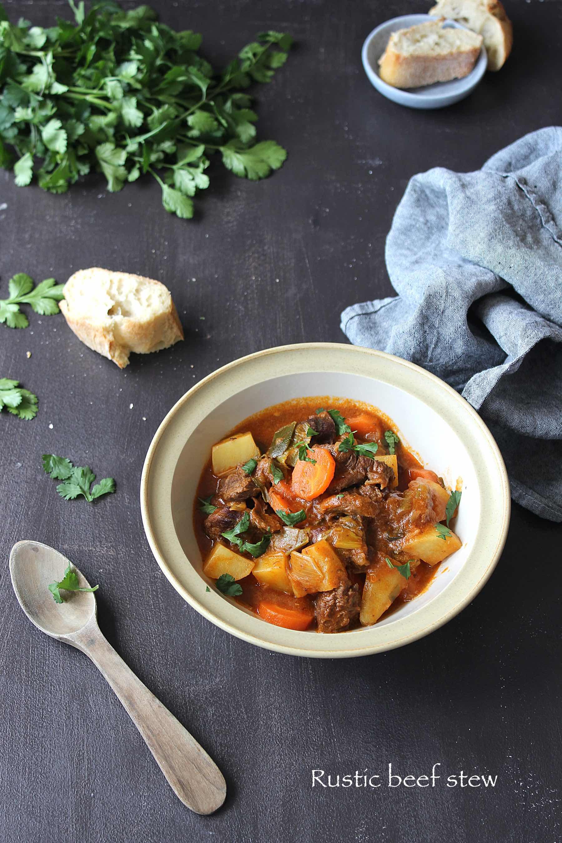 Mijoté de boeuf aux légumes