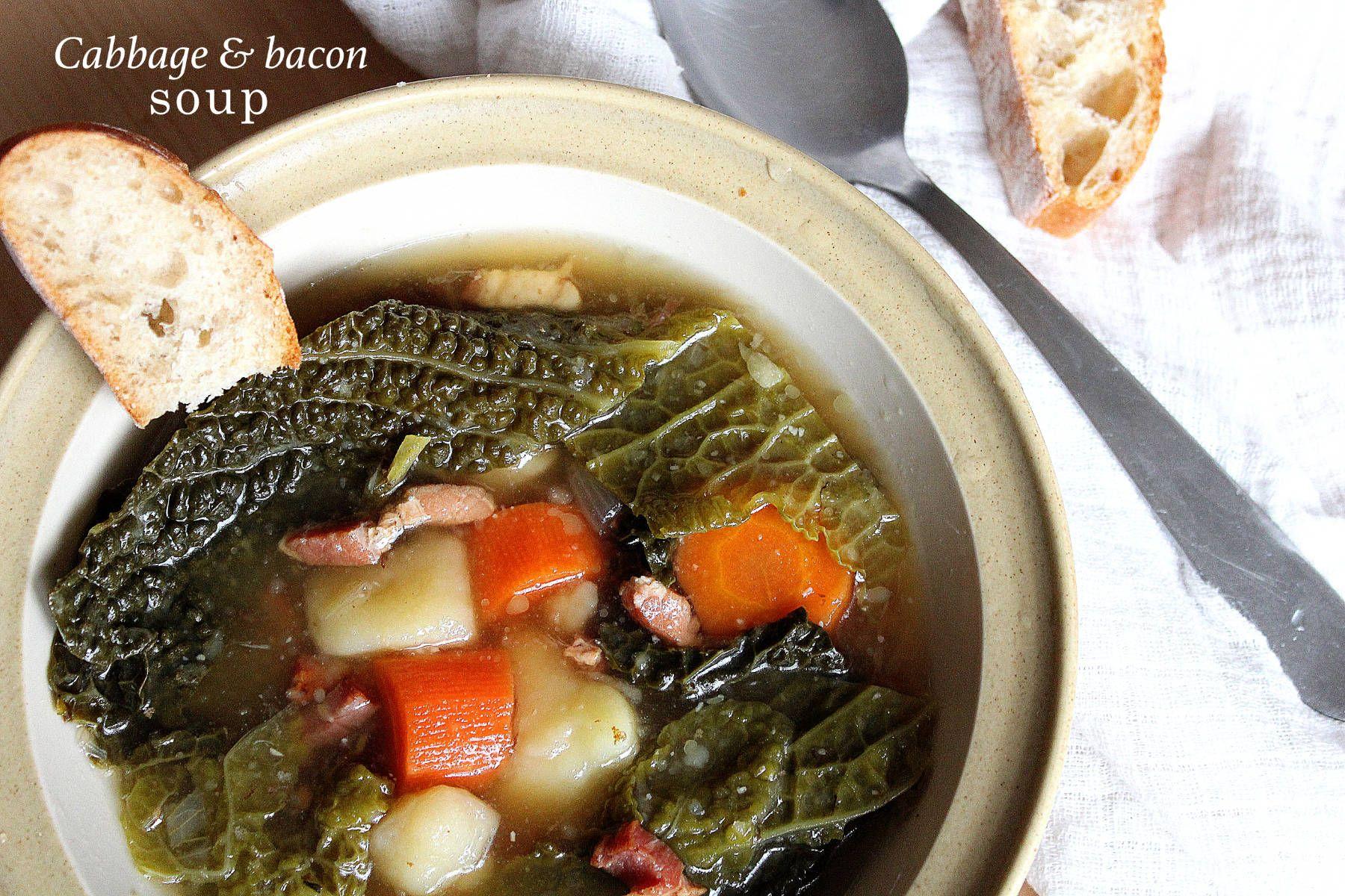 Soupe aux chou et lardons