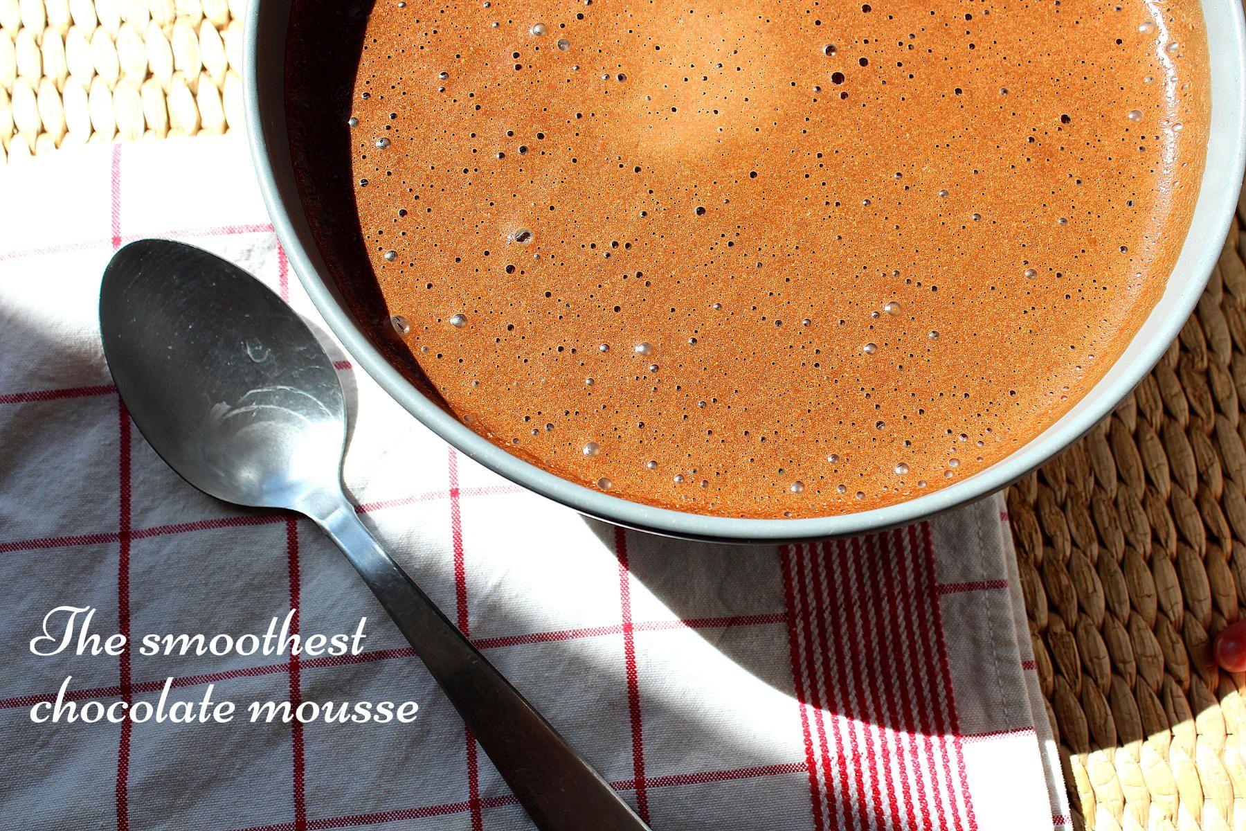 Mousse au chocolat super onctueuse