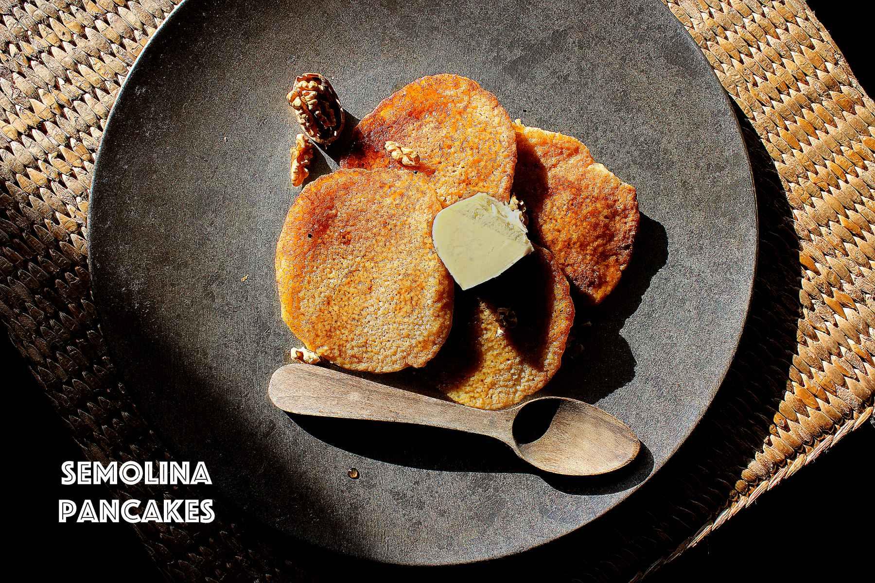 Pancakes à la semoule (vegan)