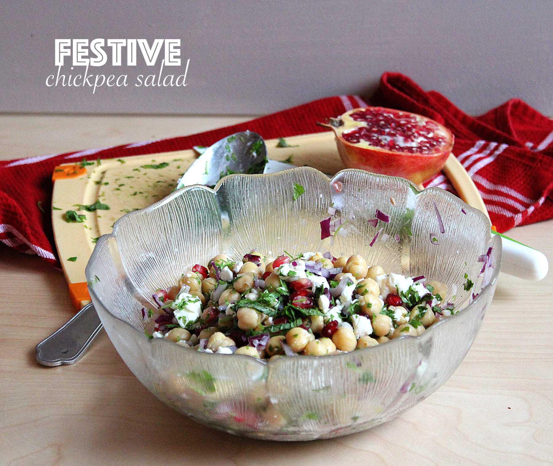 Salade de pois chiche festive
