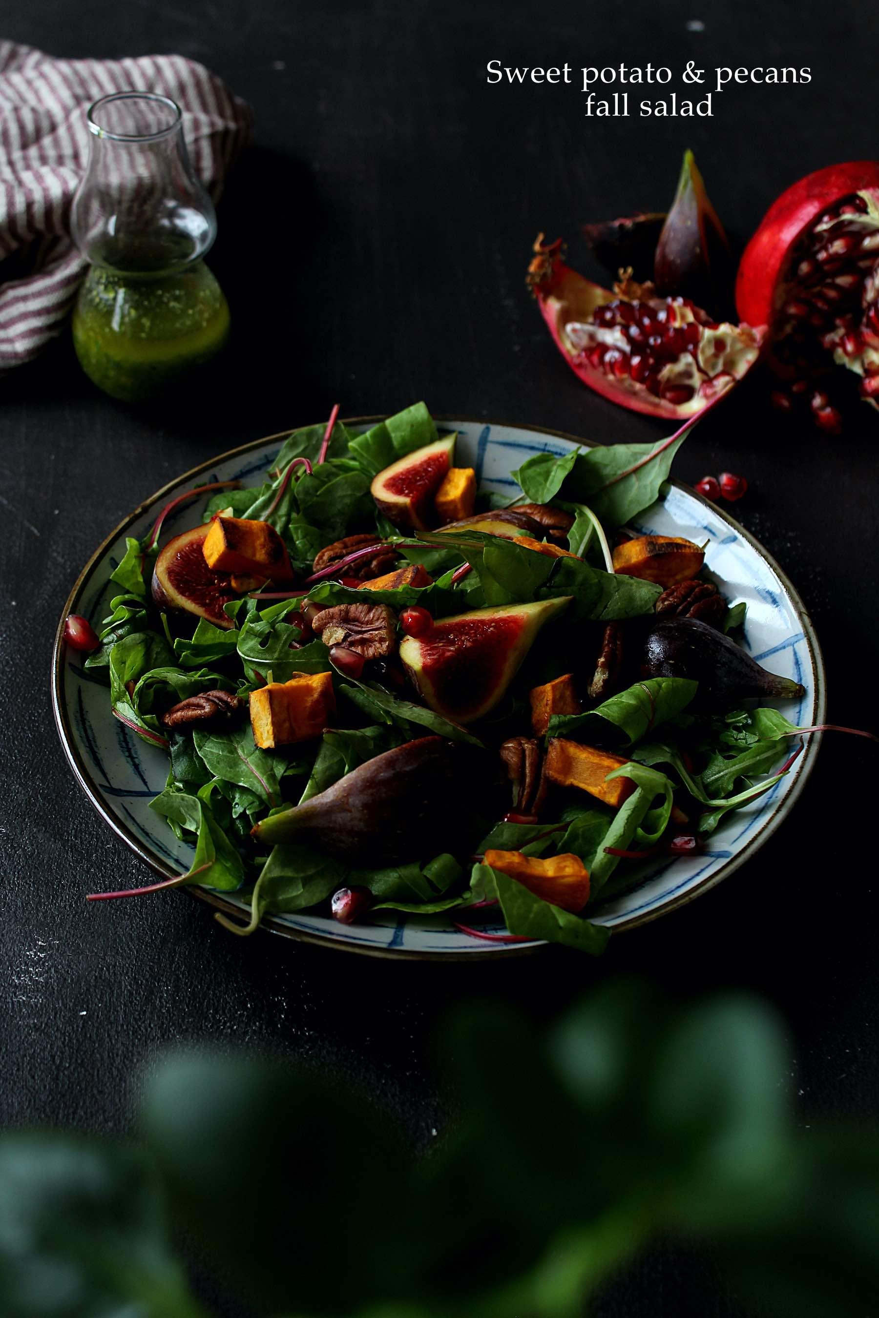 Salade de patate douce aux saveurs d'automne
