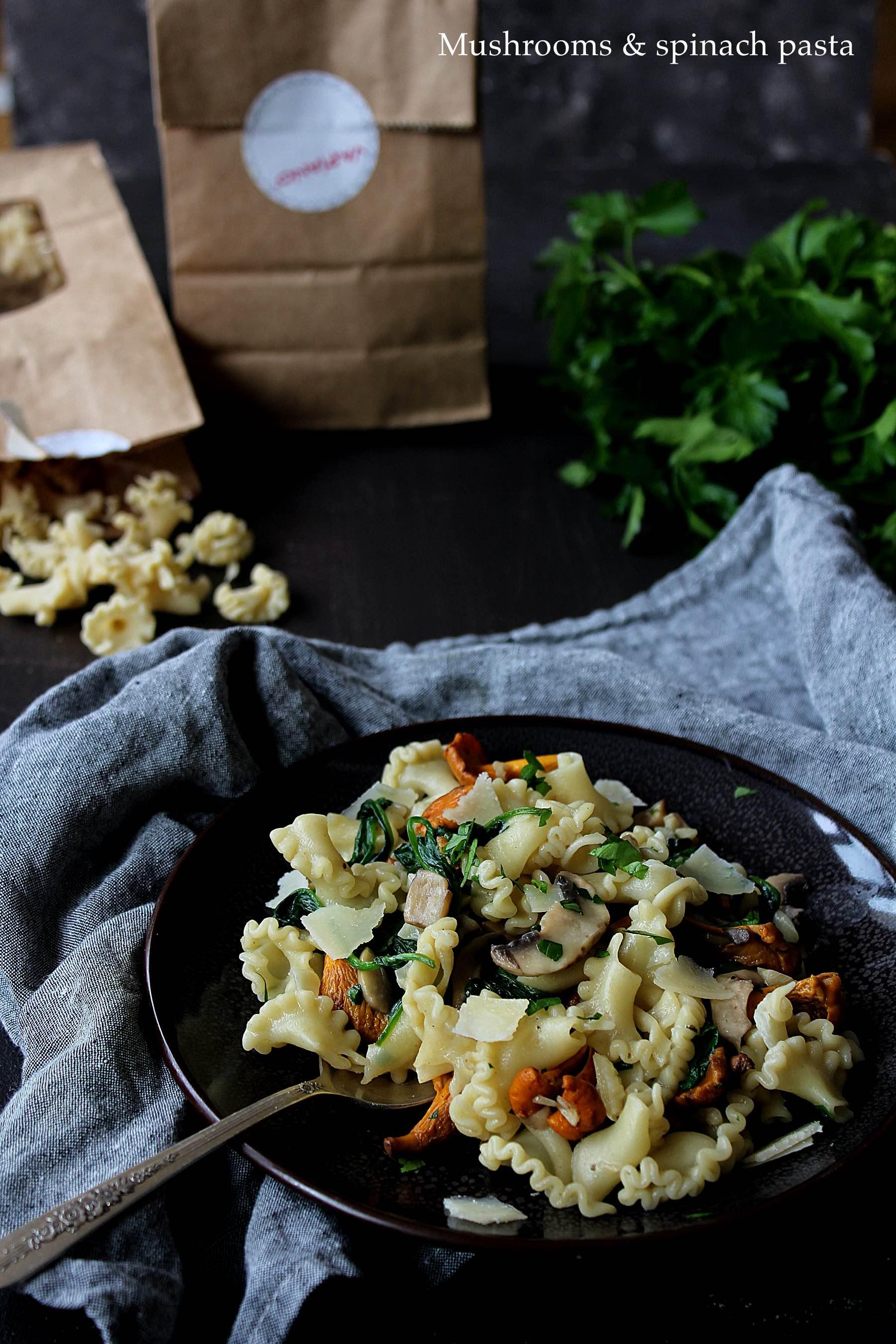 Pâtes aux champignons et épinards (avec Vapiano)