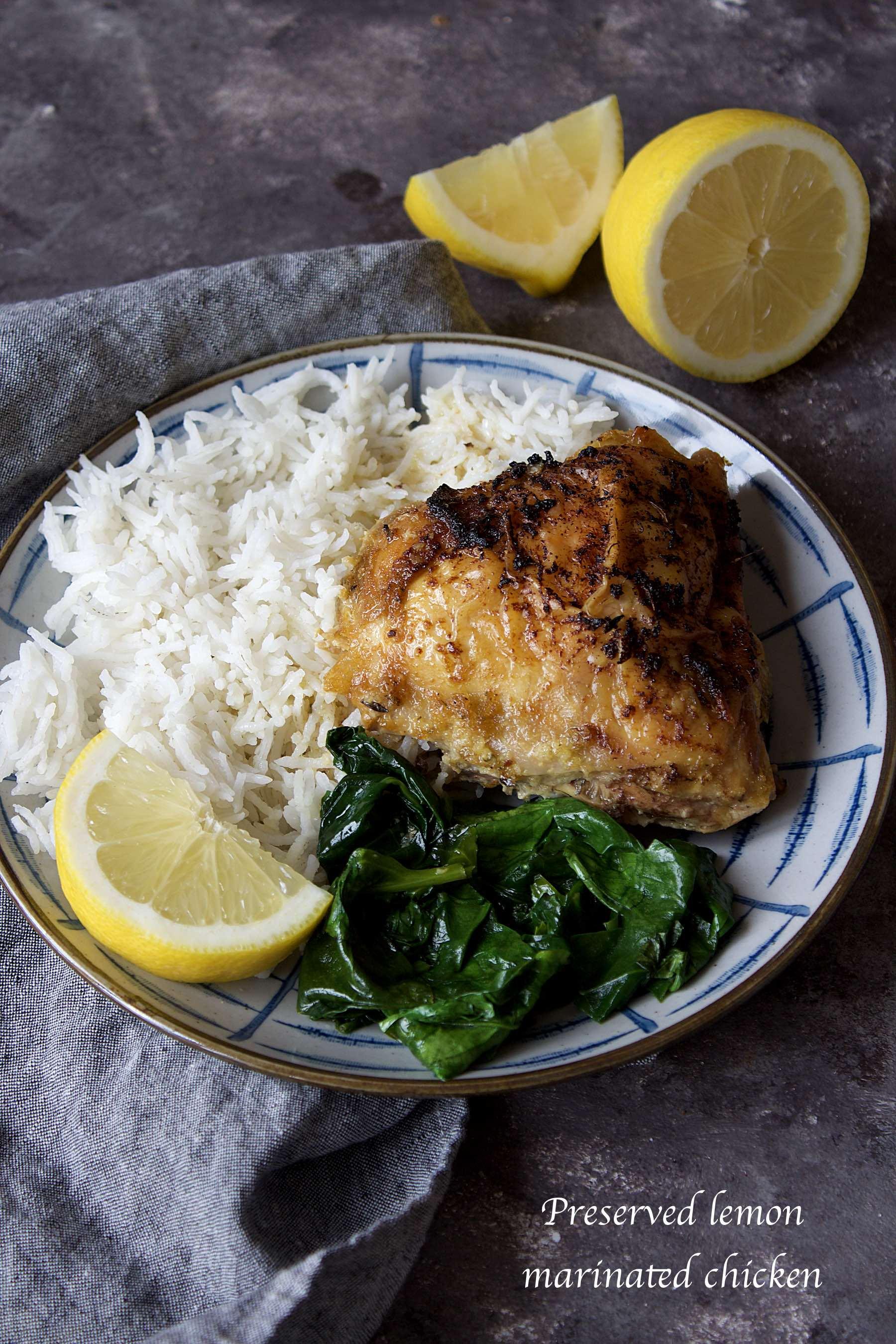 Preserved lemons marinated chicken