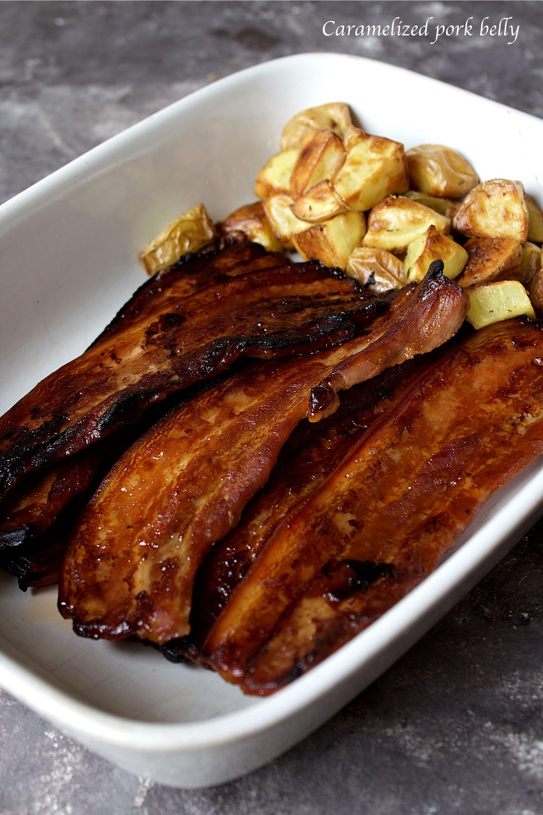 Poitrine de porc caramélisée
