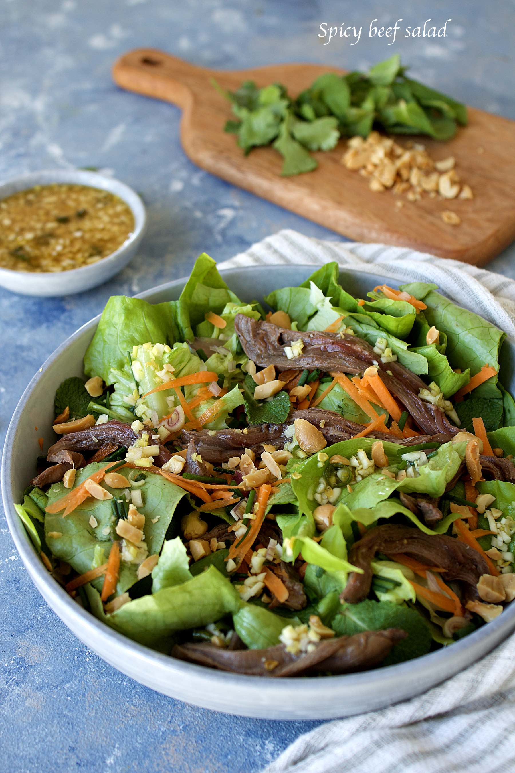 Salade de boeuf pimentée