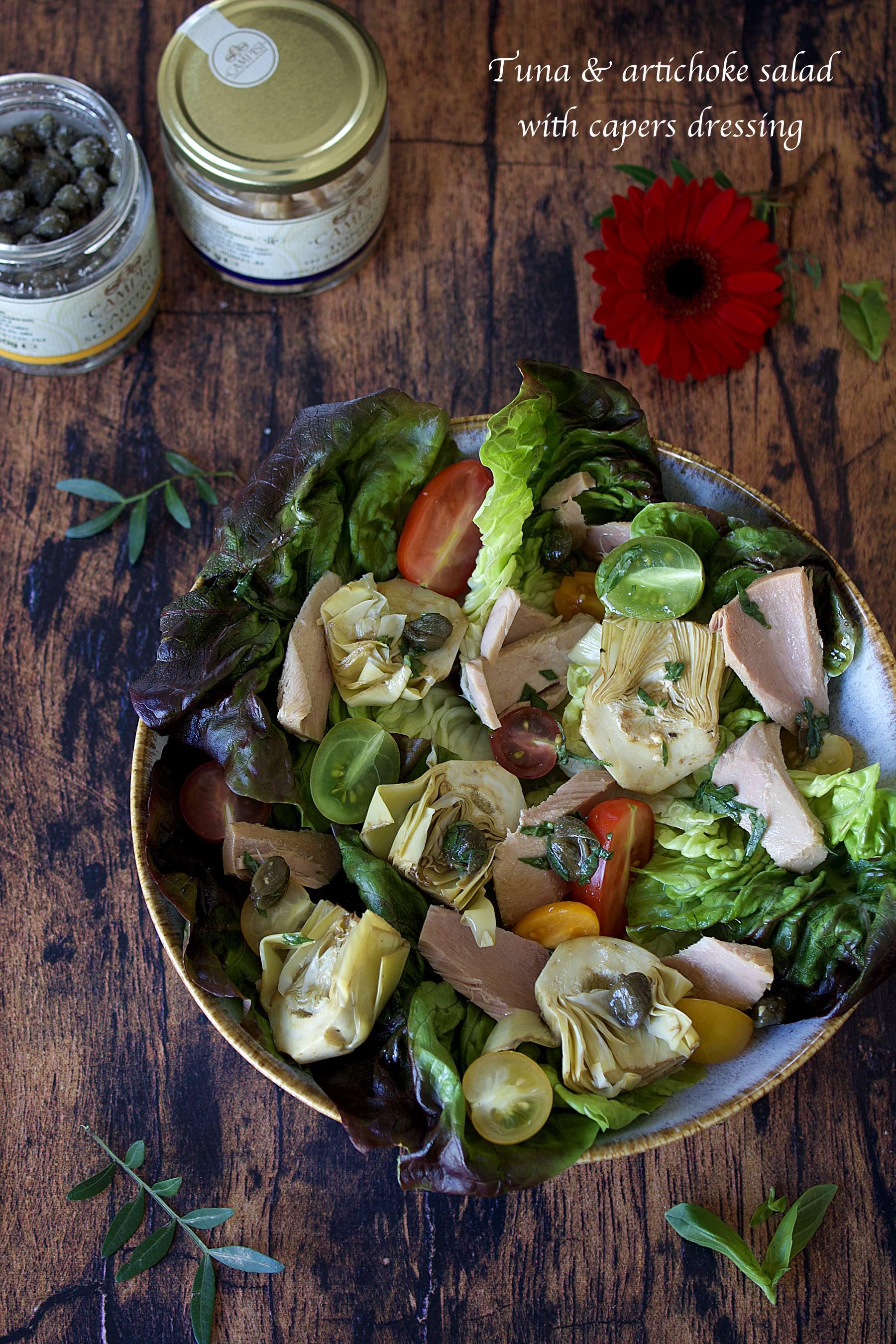 Salade de thon à l'artichaut, sauce aux câpres avec Campisi