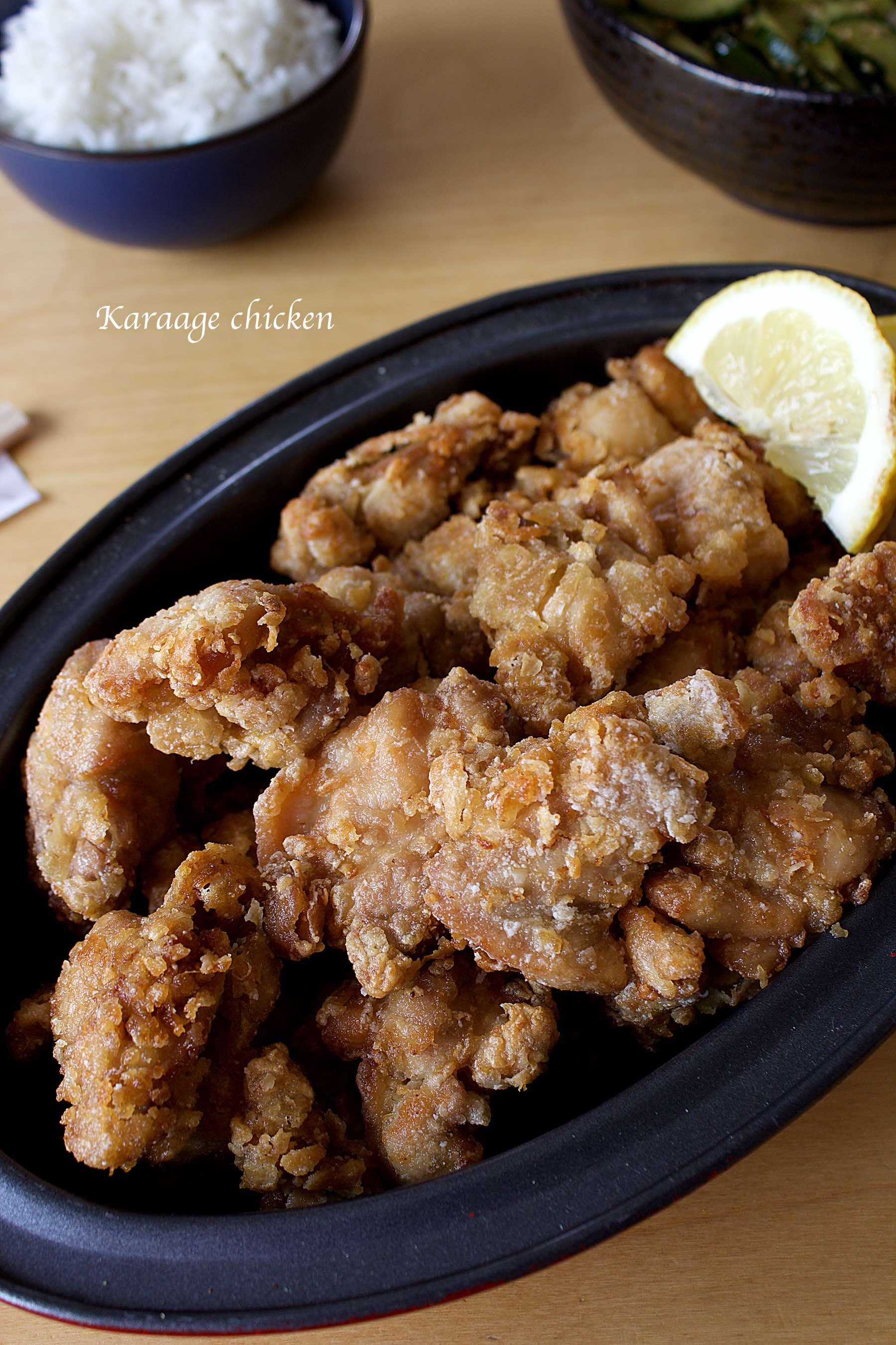 Poulet karaage, poulet frit à la japonaise