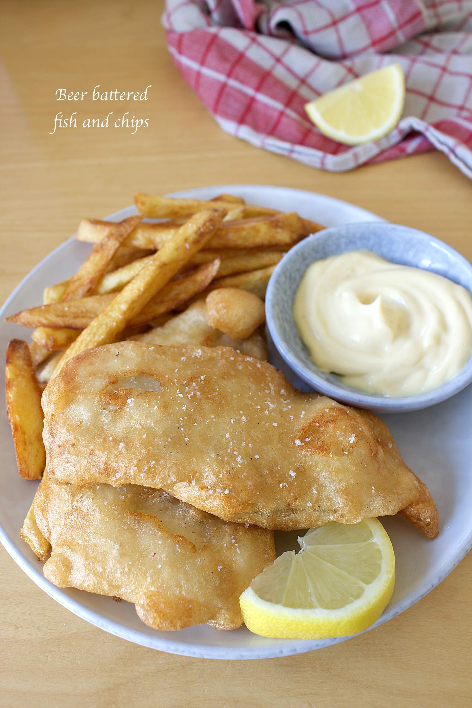 Fish and chips, beer battered fish