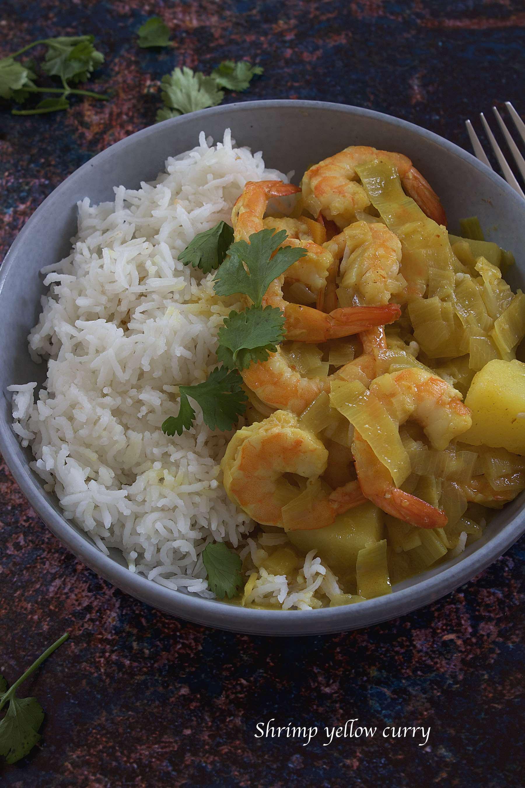 Curry jaune aux crevettes