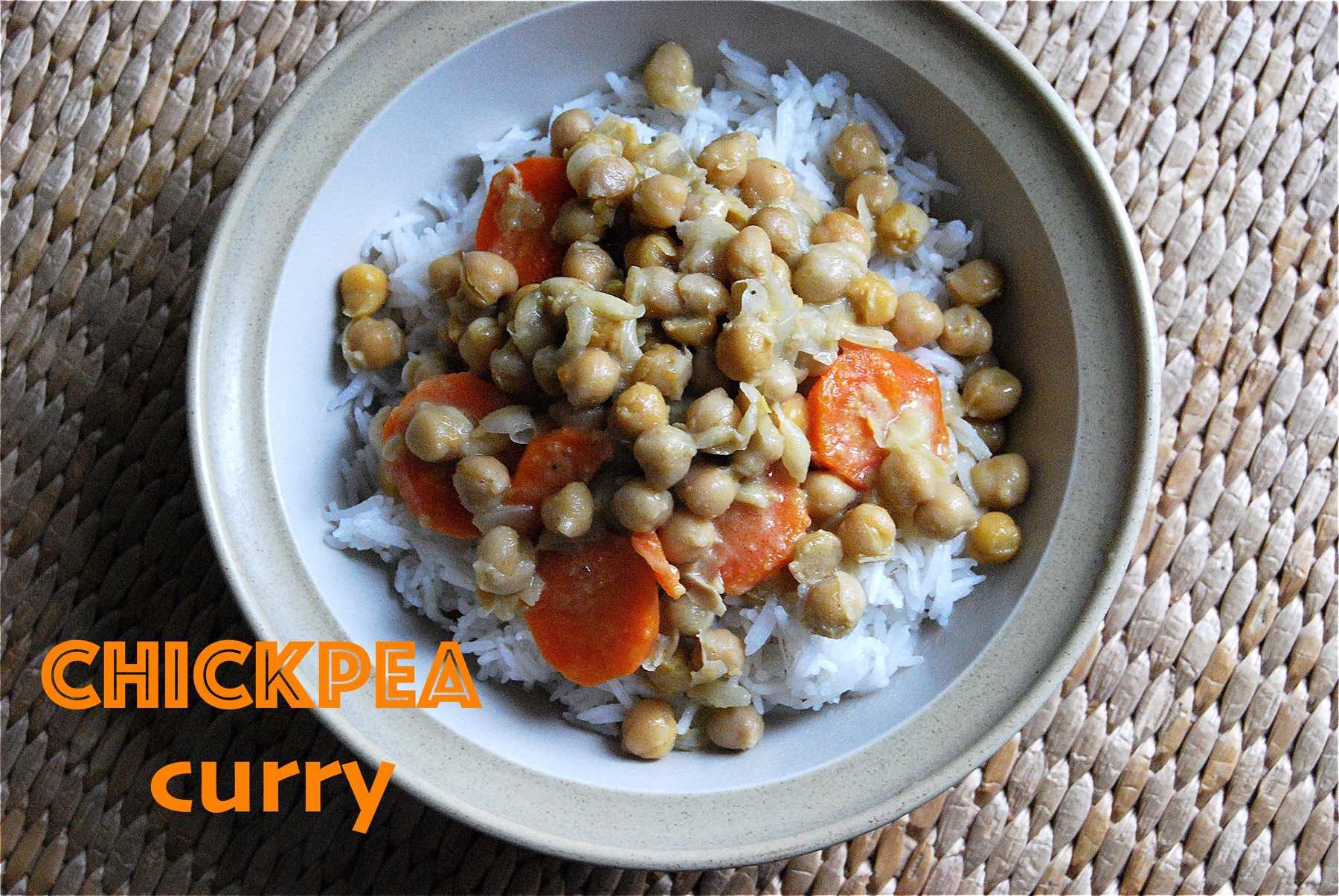 Curry de pois chiche (vegan)