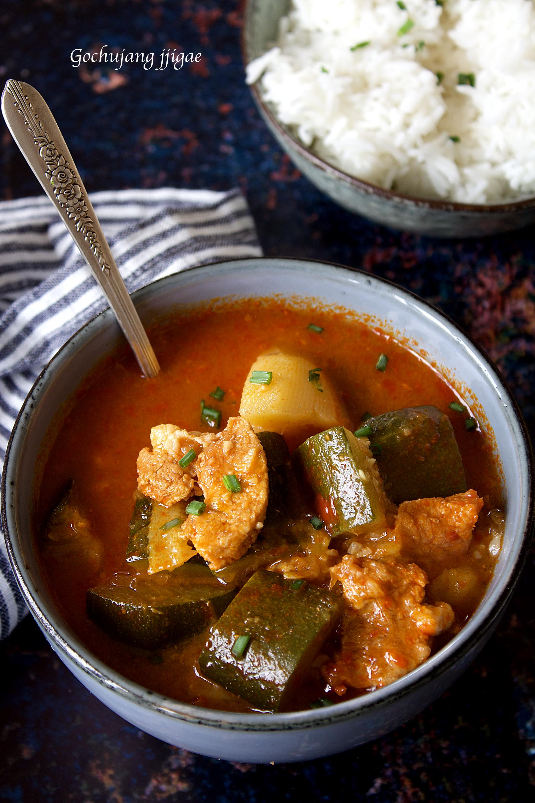 Gochujang jjigae, Korean pork and vegetables stew